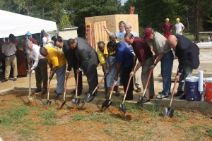 Groundbreaking for the 2010 Maroon Edition MSU House