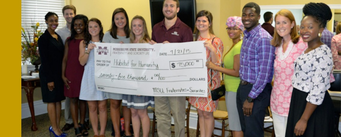 MSU Greeks raise $75,000 for Starkville Area Habitat for Humanity home